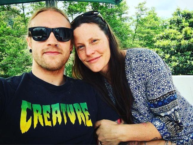 Hannes Van Dahl as seen in a selfie with his wife in 2018