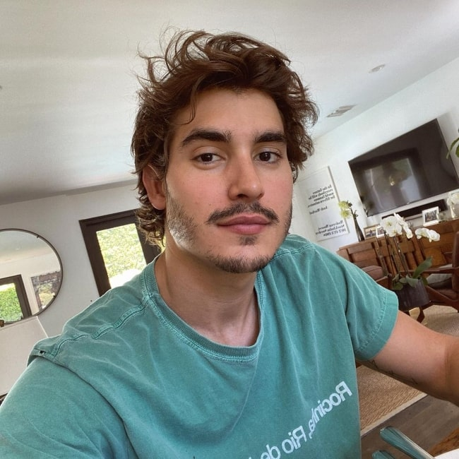 Henry Zaga as seen while clicking a selfie in May 2020