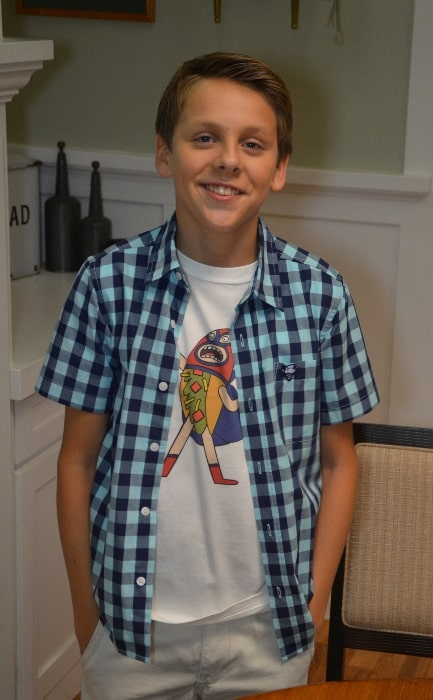 Jacob Bertrand as seen on Red Carpet Report in 2014