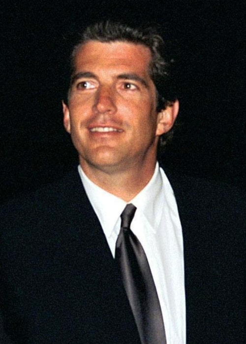 John F. Kennedy Jr. pictured at the HBO and Imagine Entertainment premiere held at Kennedy in 1998