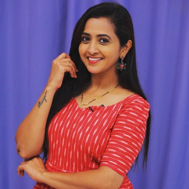 Lasya Manjunath posing for the camera in December 2020