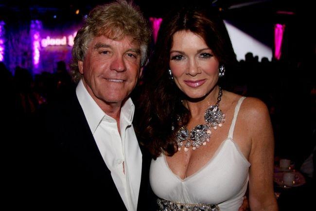 Lisa Vanderpump as seen with her husband Ken Todd in 2012