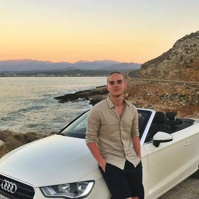 Marco Ilsø enjoying a road trip through Greece in August 2017