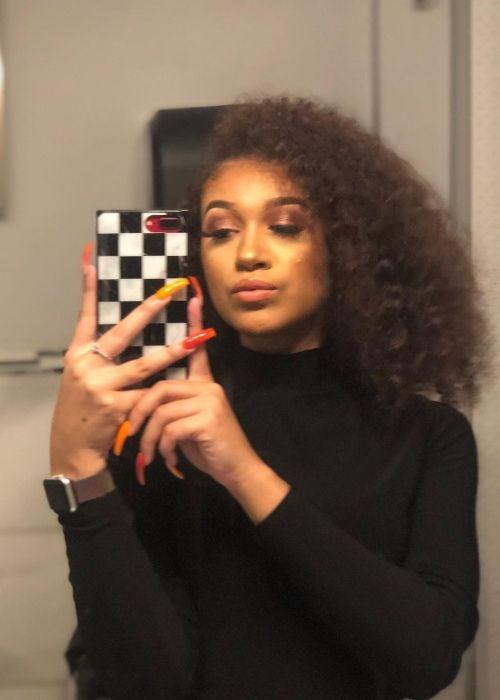 Mighty Neicy as seen in a selfie that was taken in Studio Space Atlanta in August 2020