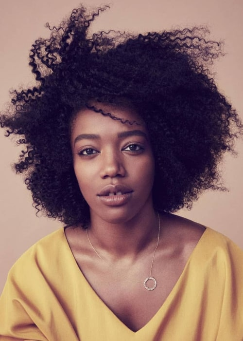 Naomi Ackie as seen while posing for the camera