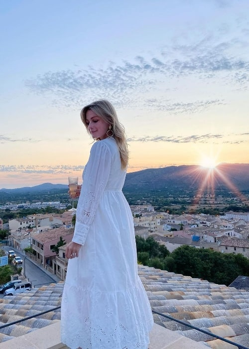 Nicola Millbank as seen while posing for a stunning picture in Capdepera, Islas Baleares, Spain