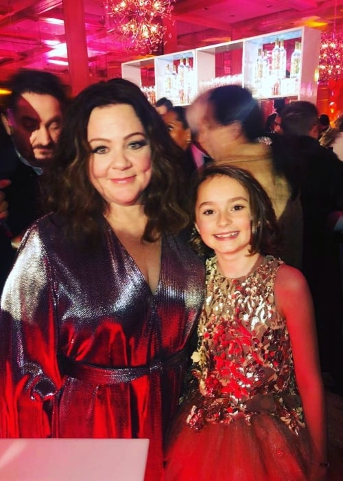 Pixie Davies as seen in a picture that was taken with comedic actress Melissa McCarthy in March 2019