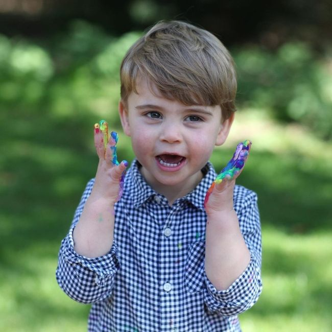 Prince Louis as seen on his 2nd birthday in 2020