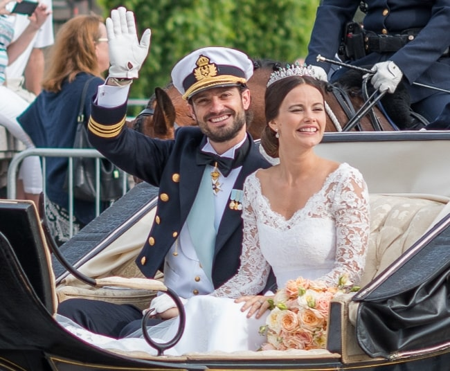 Princess Sofia and Prince Carl Philip on their wedding day on June 13, 2015