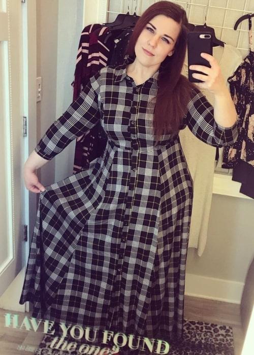 Rebecca Parham as seen in a selfie that was taken in February 2020