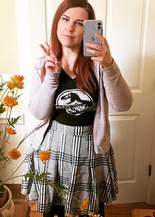 Rebecca Parham in a selfie that was taken in November 2020