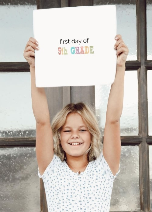 Reese LeRoy as seen in a picture that was taken on the first day of 5th grade in August 2020