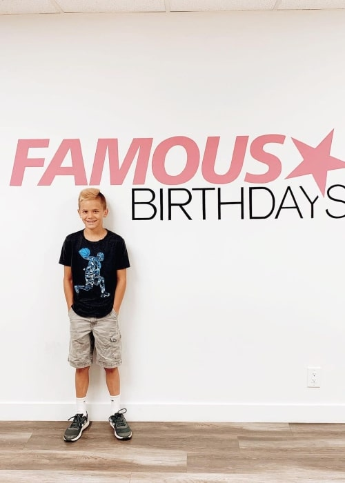 Rhett LeRoy as seen in a picture that was taken at the studio of Famous Birthdays in May 2019
