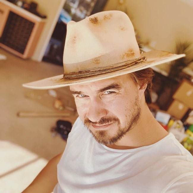 Rob Mayes as seen while clicking a selfie in Nashville, Tennessee in September 2020