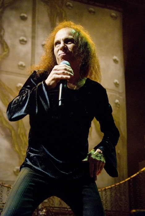 Ronnie James Dio as seen while performing with 'Heaven and Hell' at Charter One Pavilion in Chicago in 2009