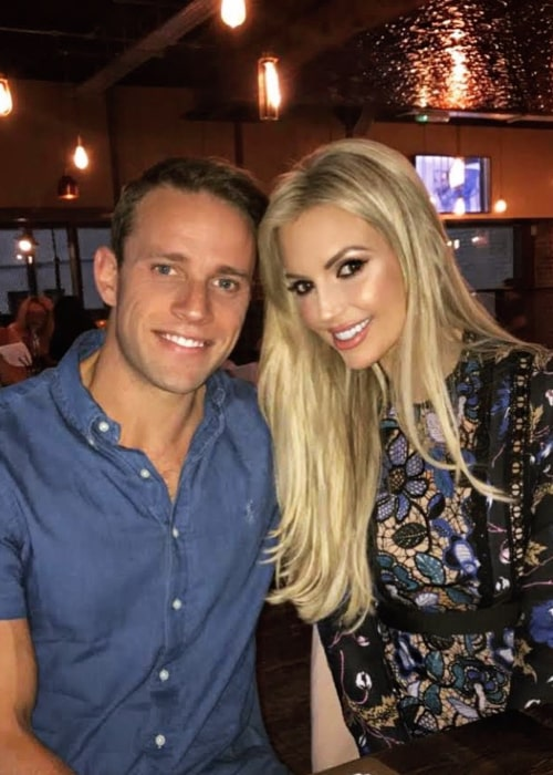 Rosanna Davison and Wesley Quirke, as seen in September 2020