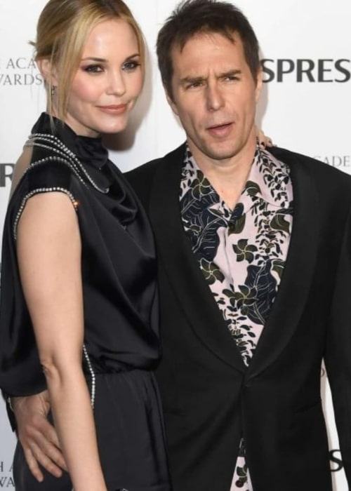 Sam Rockwell and Leslie Bibb, as seen in January 2020