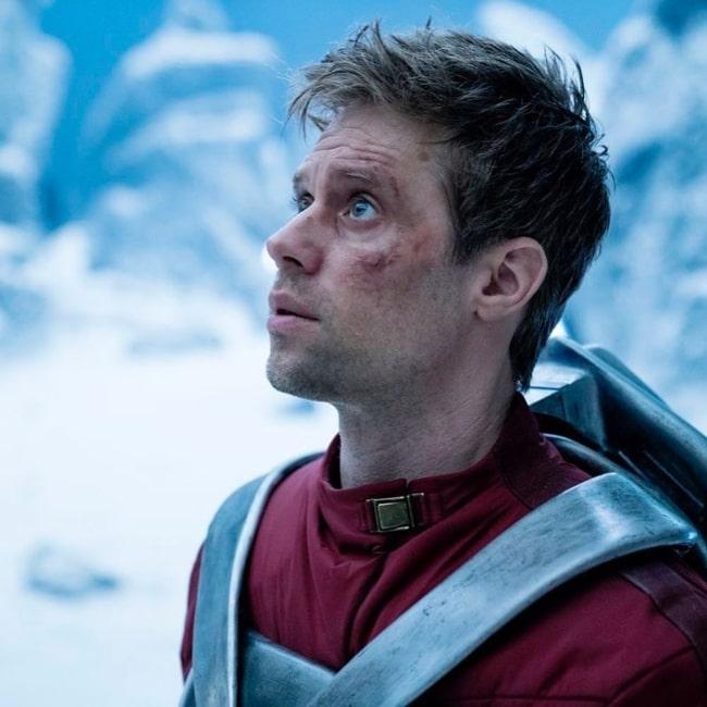 Shaun Sipos as Adam Strange in the TV show Krypton in August 2019