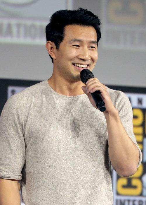 Simu Liu as seen while speaking at the 2019 San Diego Comic-Con International in San Diego, California