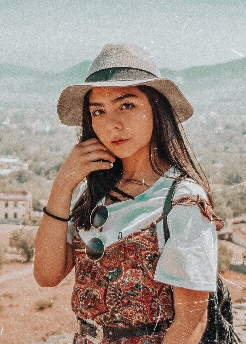 Sofi Tirado as seen in a picture that was taken at the Pirámide del Sol, Mexico in April 2019