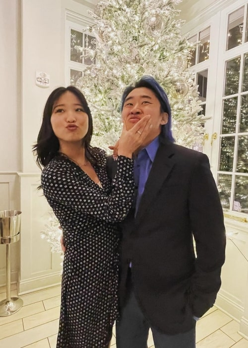 Stove's Kitchen and his beau Es Youn as seen in a picture that was taken in December 2020