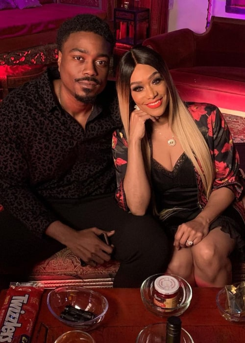 Tami Roman and Reggie Youngblood, as seen in December 2020