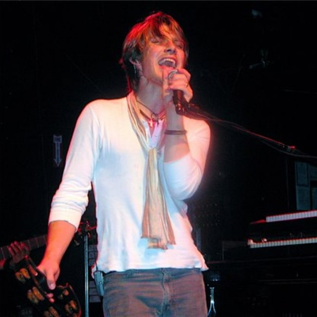 Taylor Hanson as seen in a picture that was taken at a Hanson concert on October 13, 2007