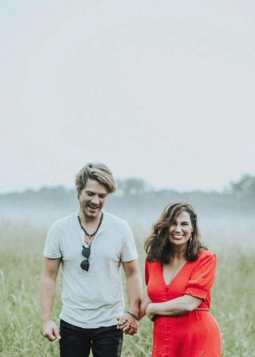 Taylor Hanson as seen in a picture with his wife Natalie Bryant that was taken in September 2020