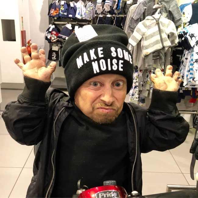 Verne Troyer as seen in a picture that was taken at the White Rose Shopping Centre in March 2018