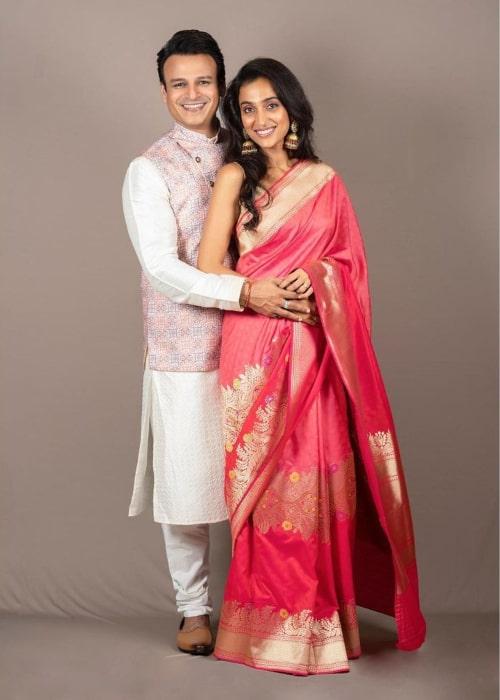 Vivek Oberoi and Priyanka Alva, as seen in October 2019