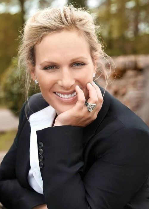 Zara Tindall as seen posing with a smile