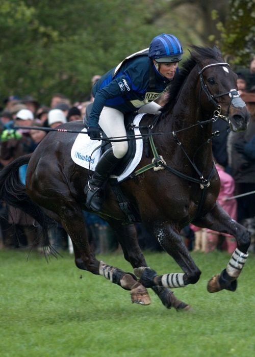 Zara and Glenbuck as seen competing at the cross-country phase of Badminton Horse Trials in 2010