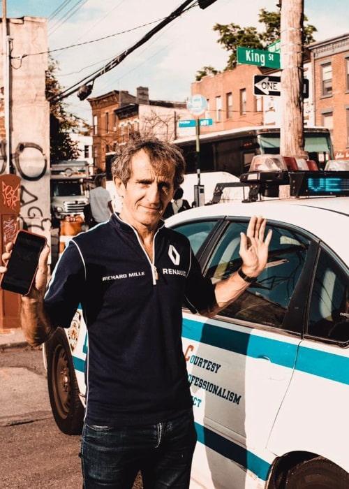 Alain Prost as seen in an Instagram Post in July 2017