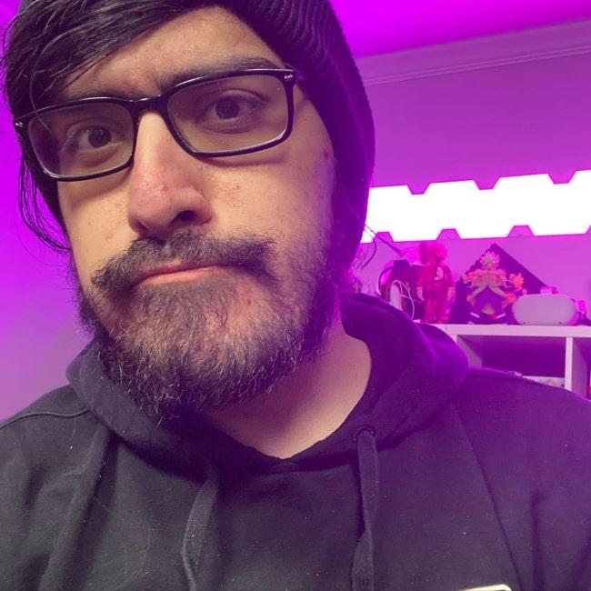 Alex Galvez as seen in a selfie that was taken in December 2020