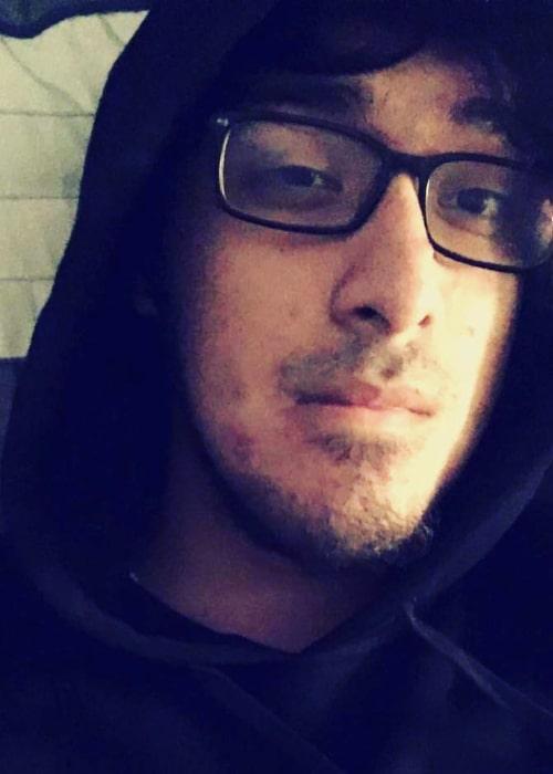 Alex Galvez as seen in a selfie that was taken in September 2016