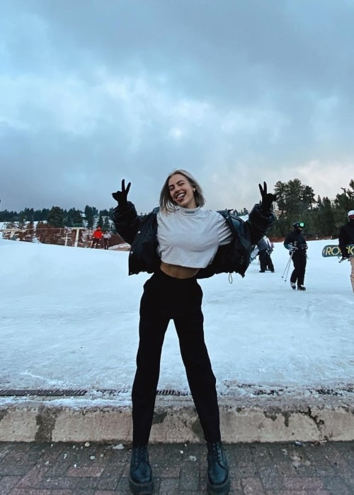 Alexa Keith as seen in a picture that was taken at the Big Bear Lake, California in December 2020