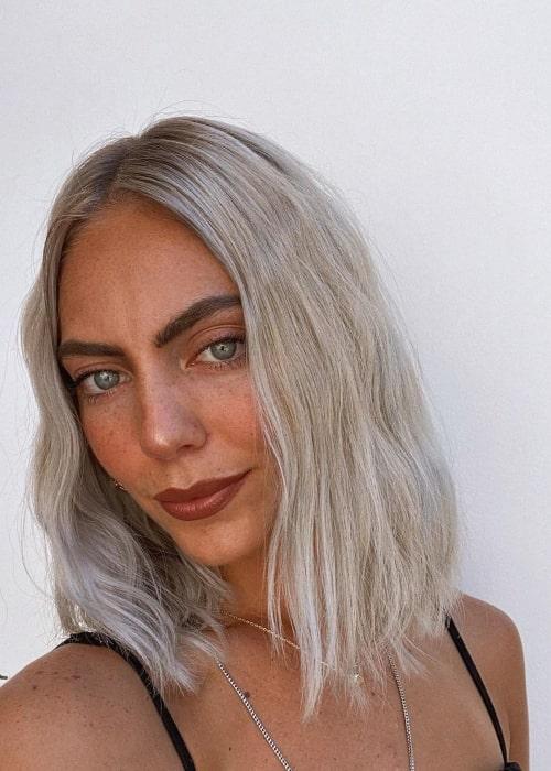 Alexa Keith as seen in a selfie that was taken in Orange County, California in September 2020