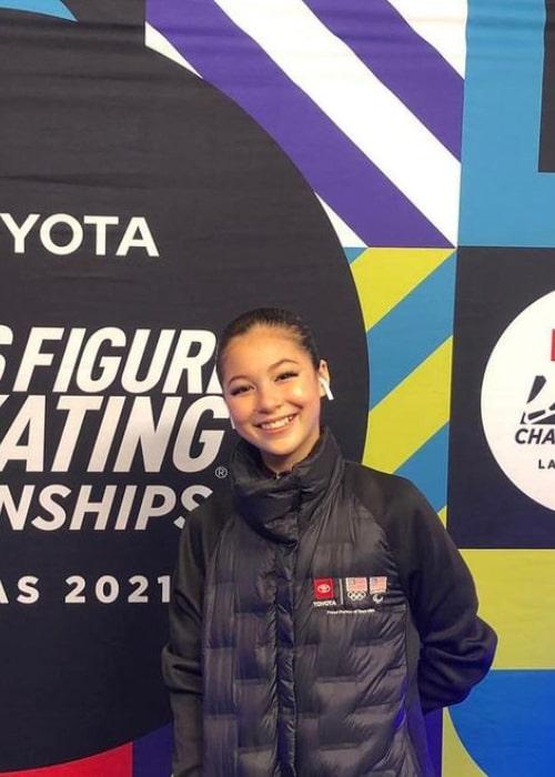 Alysa Liu as seen in an Instagram Post in January 2021