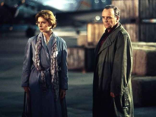 Anthony Hopkins and Isabella Rossellini as seen together in the 1993 film The Innocent