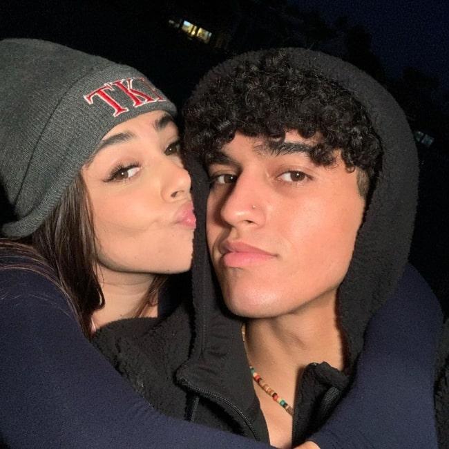 Anthony Vargas as seen in a selfie with his girlfriend Bella Retamosa in August 2020