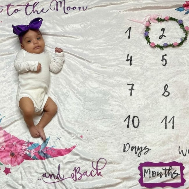 Ayla Faith Prince in a picture that was taken in December 2020