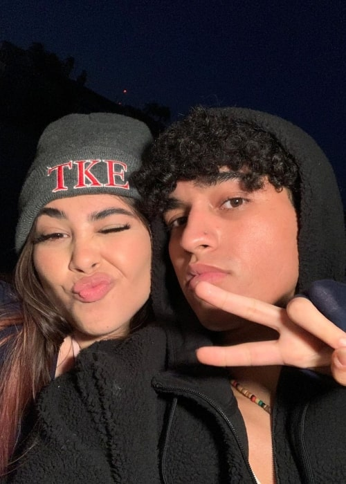 Bella Retamosa as seen in a selfie that was taken with her beau Anthony Vargas in Newport Beach, California in September 2020