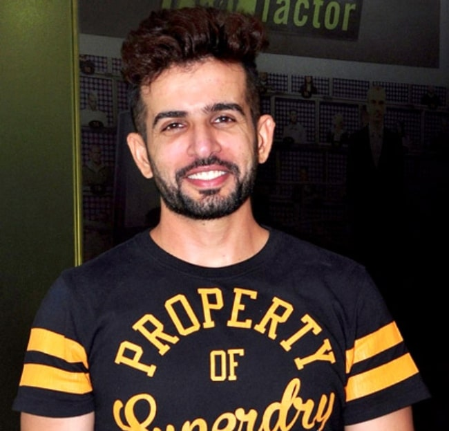 Bhanushali pictured at the success bash of 'The Voice India Kids' in 2016