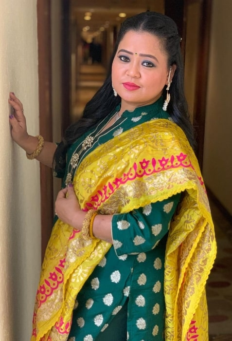 Bharti Singh as seen while posing for the camera in January 2021