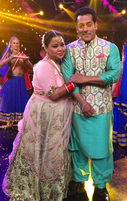 Bharti Singh in a picture with Salman Khan