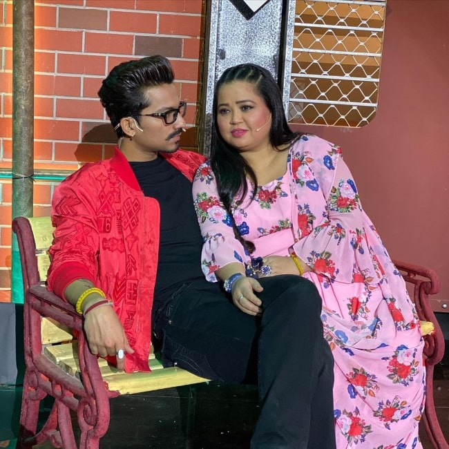 Bharti Singh with husband Haarsh Limbachiyaa in an Instagram post in November 2020
