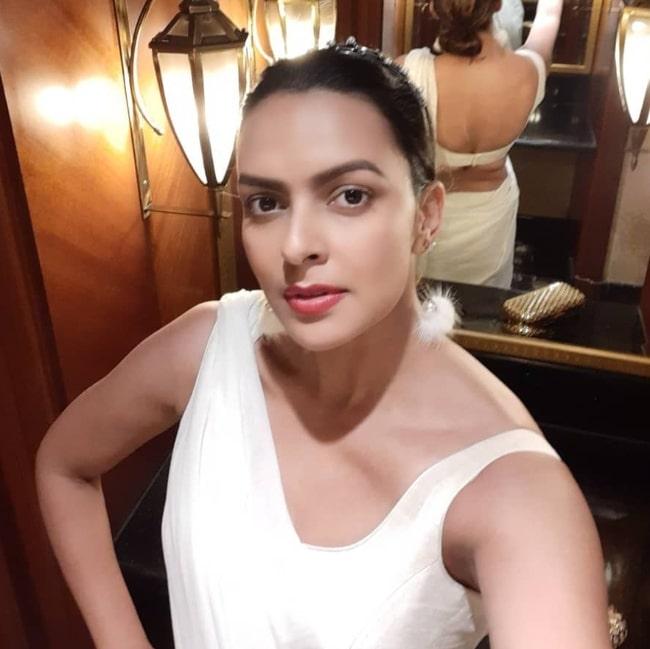 Bidita Bag as seen while taking a selfie at JW Marriott Mumbai Juhu in February 2020