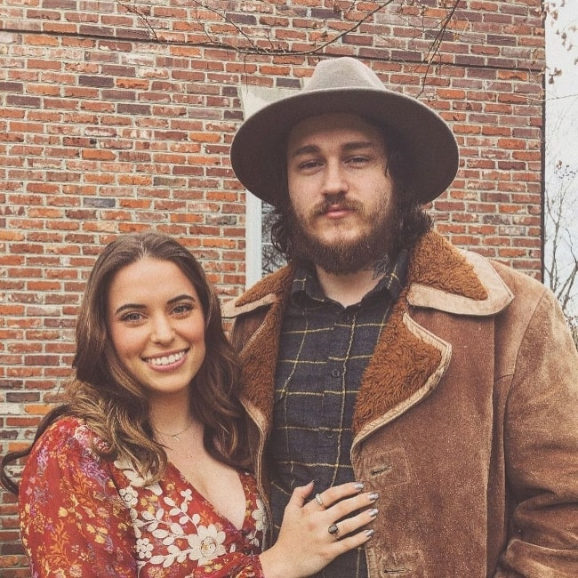 Braison Cyrus as seen while posing for a picture along with Stella McBride Cyrus in Nashville, Tennessee in August 2020