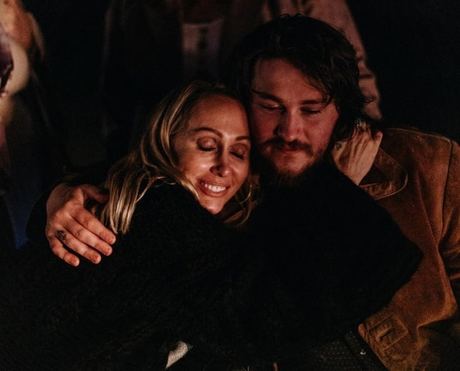Braison Cyrus in an Instagram post with his mother Tish Cyrus in July 2020