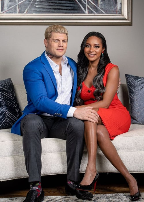 Brandi Rhodes and Cody Rhodes, as seen in December 2020
